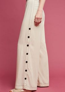 Anthropologie Tracy Reese Side Button Wide-Legs