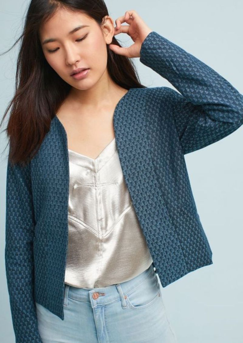 Anthropologie Triangle Jacquard Jacket