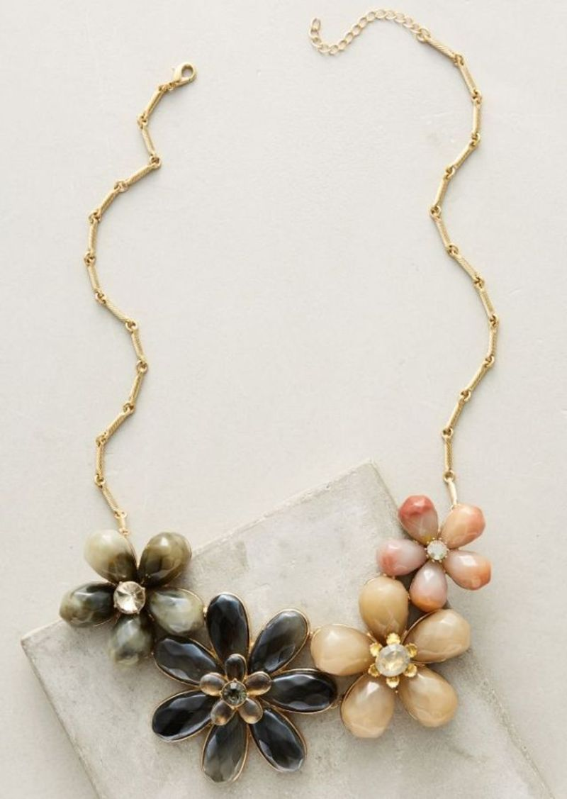 Anthropologie Trina Floral Bib Necklace