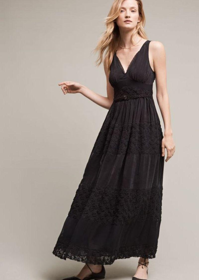 Anthropologie Tulie Beaded Maxi Dress