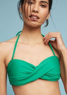 Anthropologie Twisted Bandeau Bikini Top