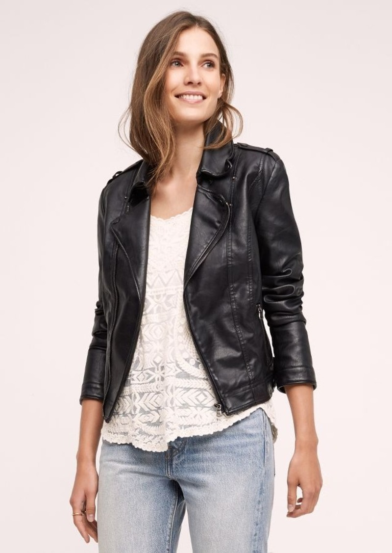 Anthropologie Vegan Leather Moto Jacket