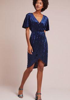 Velvet Plisse Dress