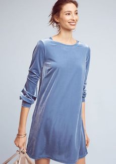 Anthropologie Velvet Shift Dress