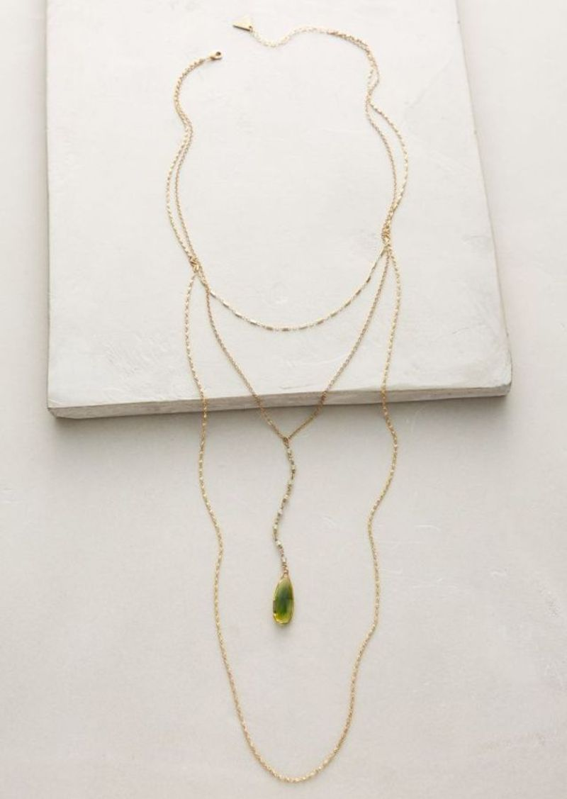 Anthropologie Viridis Layer Necklace
