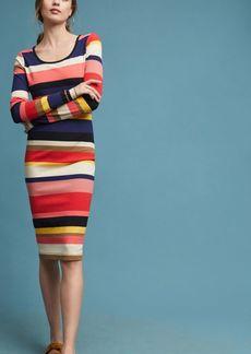 Vivid Stripe Column Dress