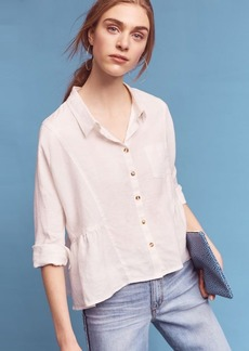 Anthropologie Washed Linen Shirt