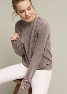 Anthropologie Weckerlie Scalloped Sweatshirt