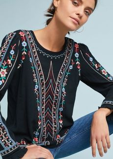 Anthropologie Wesley Embroidered Pullover