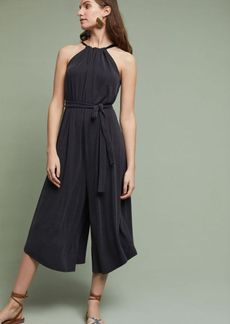 Anthropologie Wide-Leg Halter Jumpsuit