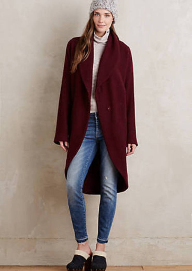 Anthropologie Windsor Boiled Wool Sweater Coat Sweaters