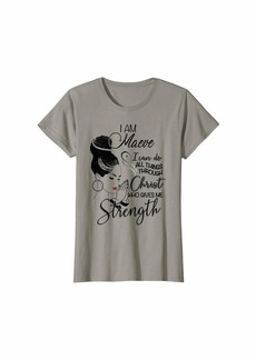 Anthropologie Womens I Am MAEVE I Can Do All Things First Name Tee T-Shirt