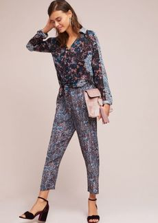 Anthropologie Woven Twist-Front Jumpsuit