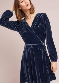 Anthropologie Yumi Kim Velvet Wrap Mini Dress