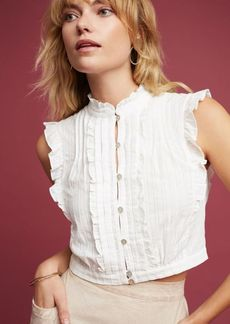 Anthropologie Yvette Cropped Blouse