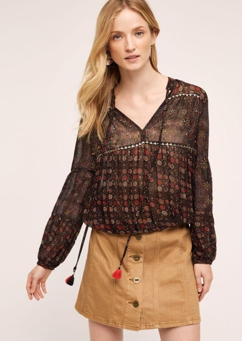 Anthropologie Zabine Peasant Top