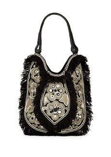 ANTIK BATIK Cabas Fringed Cotton Bag