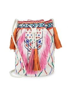 ANTIK BATIK Fringed Bucket Bag