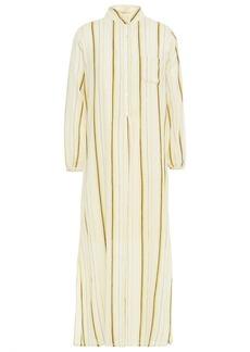 Antik Batik Woman Antonia Striped Cotton-gauze Midi Dress Ecru