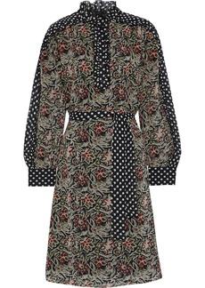 Antik Batik Woman Balyna Ruffle-trimmed Printed Silk-chiffon Dress Black