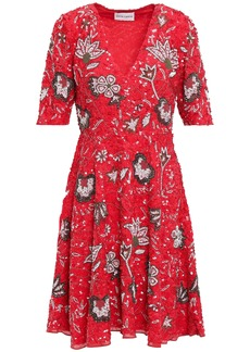 Antik Batik Woman Chacha Embellished Cotton Dress Red