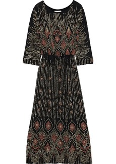 Antik Batik Woman Emilie Embellished Chiffon Maxi Dress Black