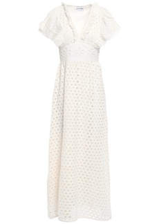 Antik Batik Woman Jada Ruffle-trimmed Broderie Anglaise Cotton Maxi Dress Off-white