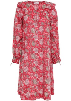 Antik Batik Woman Jody Ruffle-trimmed Cotton Dress Red