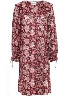 Antik Batik Woman Jody Ruffle-trimmed Cotton-voile Dress Merlot