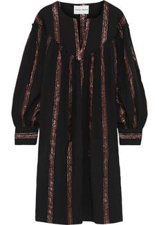 Antik Batik Woman Julia Metallic Striped Cotton-gauze Dress Black