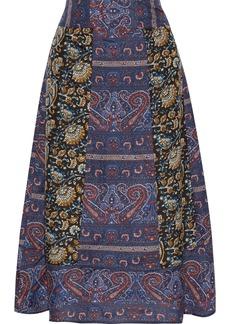 Antik Batik Woman Keith Printed Silk Crepe De Chine Midi Skirt Multicolor