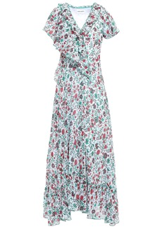 Antik Batik Woman Lally Ruffled Floral-print Cotton-gauze Maxi Dress Ivory
