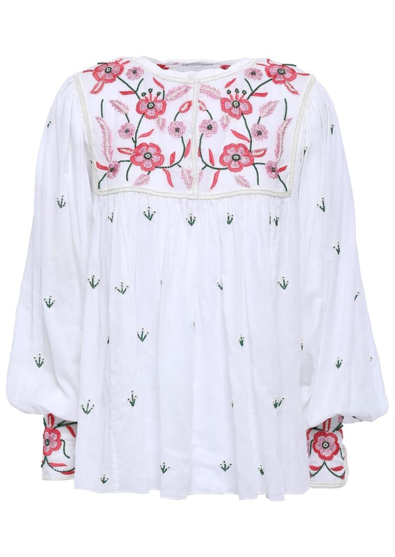 Antik Batik Woman Lilou Embellished Cotton-voile Blouse White