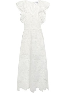 Antik Batik Woman Thelma Ruffle-trimmed Guipure Lace Maxi Dress Ivory