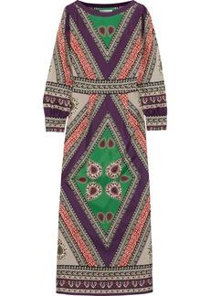 Antik Batik Woman Oriana Printed Silk Maxi Dress Multicolor