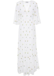 Antik Batik Woman Oriane Embellished Cotton-mousseline Maxi Dress White