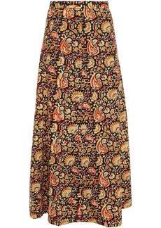 Antik Batik Woman Paisley-print Cotton Maxi Skirt Black
