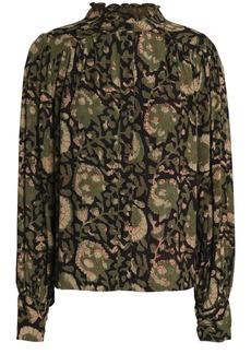 Antik Batik Woman Printed Crepe Blouse Army Green