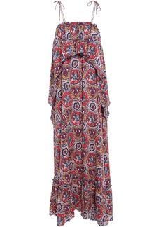 Antik Batik Woman Sam Layered Printed Voile Maxi Dress Multicolor