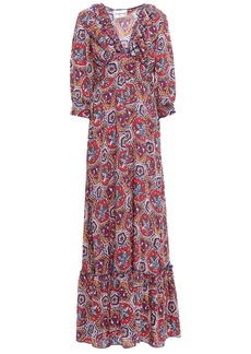 Antik Batik Woman Sam Ruffle-trimmed Printed Voile Maxi Dress Multicolor