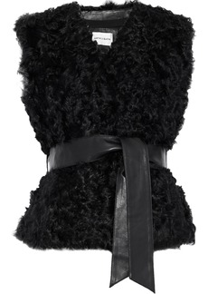 Antik Batik Woman Sheela Belted Wool Vest Black