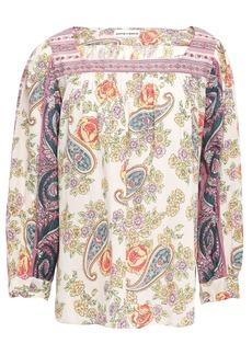 Antik Batik Woman Soleil Patchwork-effect Floral-print Cotton-mousseline Blouse Ecru