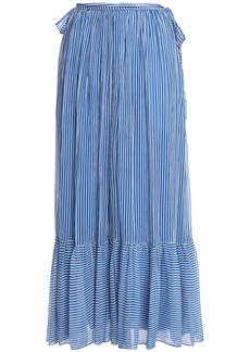 Antik Batik Woman Striped Gauze Maxi Skirt Bright Blue