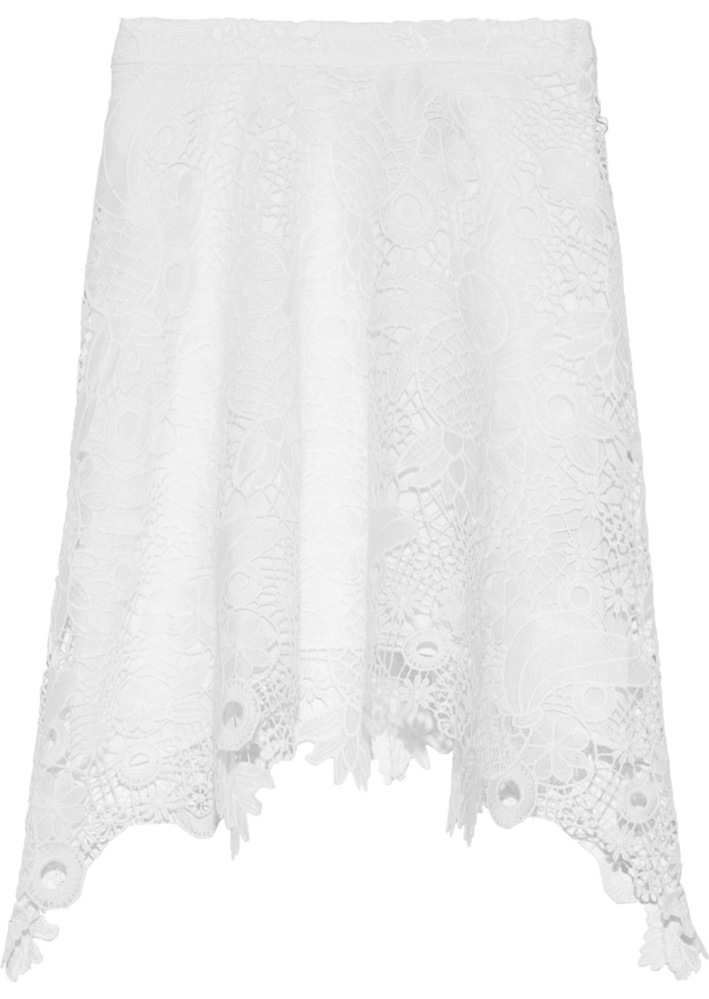 Antik Batik Woman Thelma Asymmetric Macramé Lace Mini Skirt White