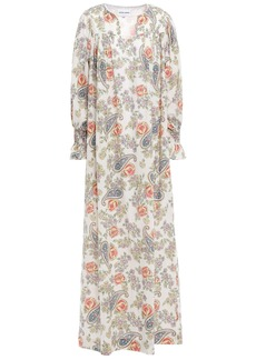 Antik Batik Woman Vika Gathered Printed Cotton-voile Maxi Dress Ivory