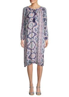 Antik Batik Djellabah Printed Cotton Shift Dress