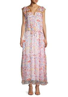 Antik Batik Floral Long Blouson Dress