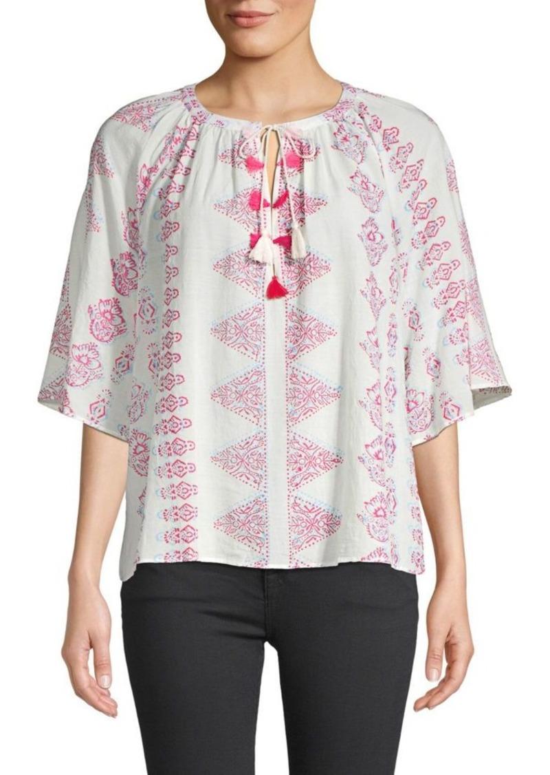 Antik Batik Self-Tie Printed Blouse
