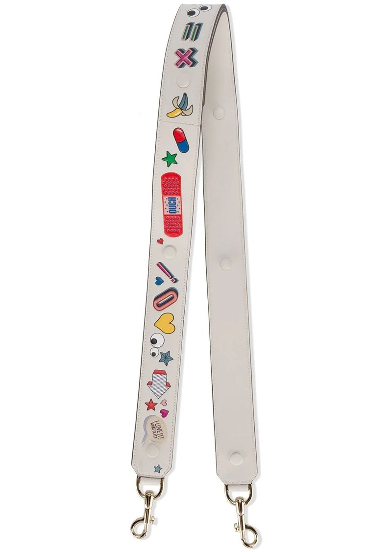 Anya Hindmarch All Over Stickers bag strap