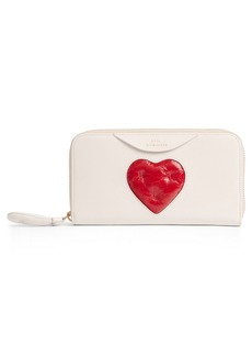 Anya Hindmarch Chubby Heart Large Zip Around Wallet